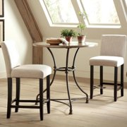 Frederique French Bistro Design Counter Height Pub Set 1 Table, 2 Stools