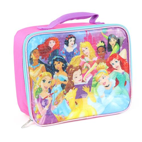 Disney Girls All of the Princesses Soft Lunch Box (Pink One Size)