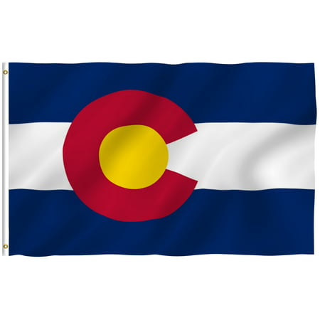 ANLEY [Fly Breeze] 3x5 Feet Colorado State Flag - Vivid Color and UV Fade Resistant - Canvas Header and Brass Grommets - Colorado CO Banner Flags