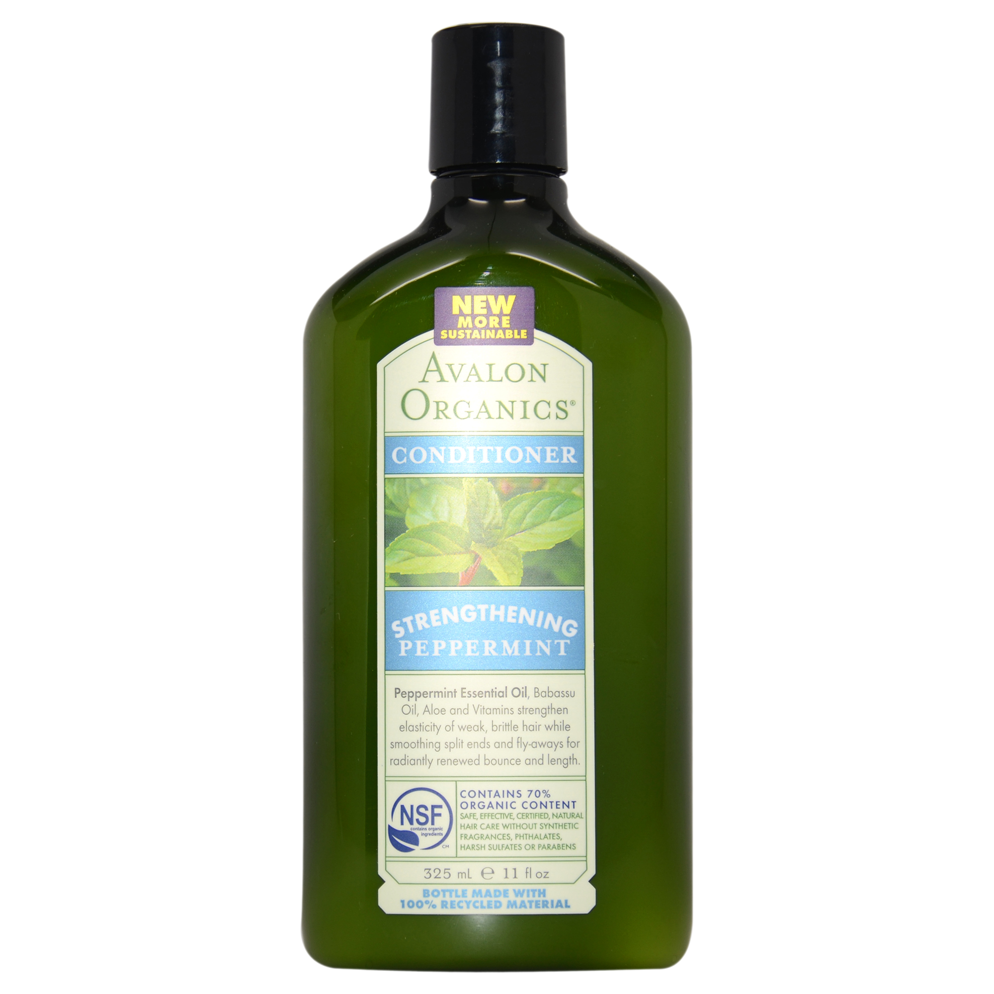 Avalon Organics Strengthening Peppermint Conditioner, 11 Oz