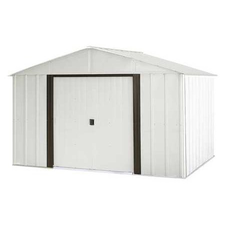 ARROW SHEDS AR108 Outdoor Storage Shed,74 cu. ft.,Eggshell G2197837