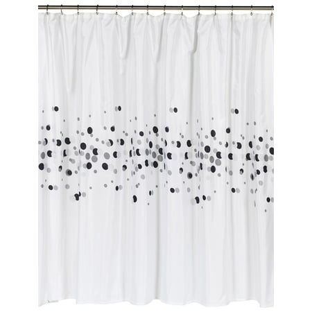 Royal Bath Dots Extra Long 100 Polyester Fabric Shower Curtain Size 70 Wide X