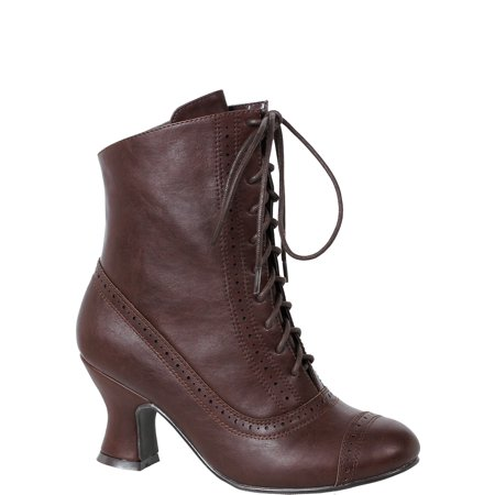 Misfits Halloween 7 Inch (Woman's 2.5 inch Heeled Brown Victorian Bootie Halloween Costume)