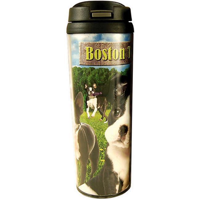 Americaware PATBOS01 Boston Terrier Travel Tumbler