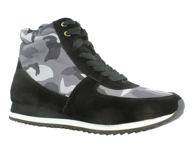 Bella Vita Womens Enice Black Suede Camo Low Top Shoes Size 9.5 New by Bella Vita
