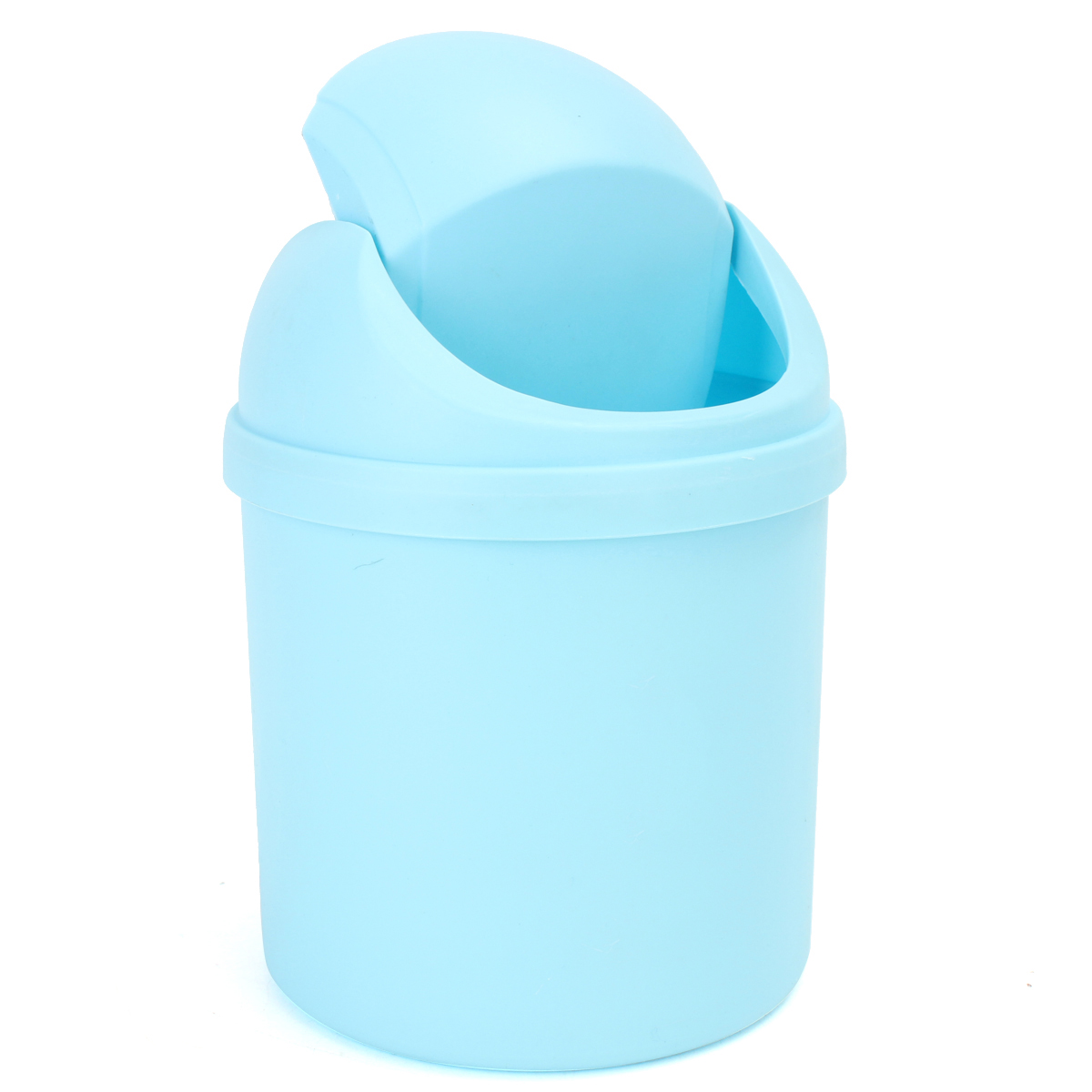 Mini Small Waste Bin Desktop Garbage Basket Table Trash Can Roll ...
