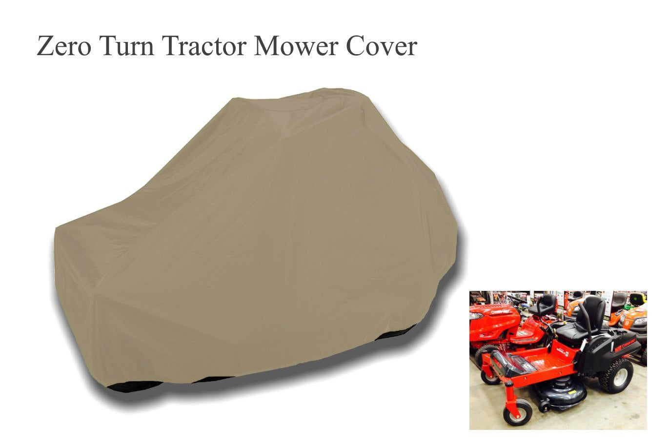 "Formosa Covers Zero turn Lawn Mower Cover 82""Lx50""Wx48""H by"