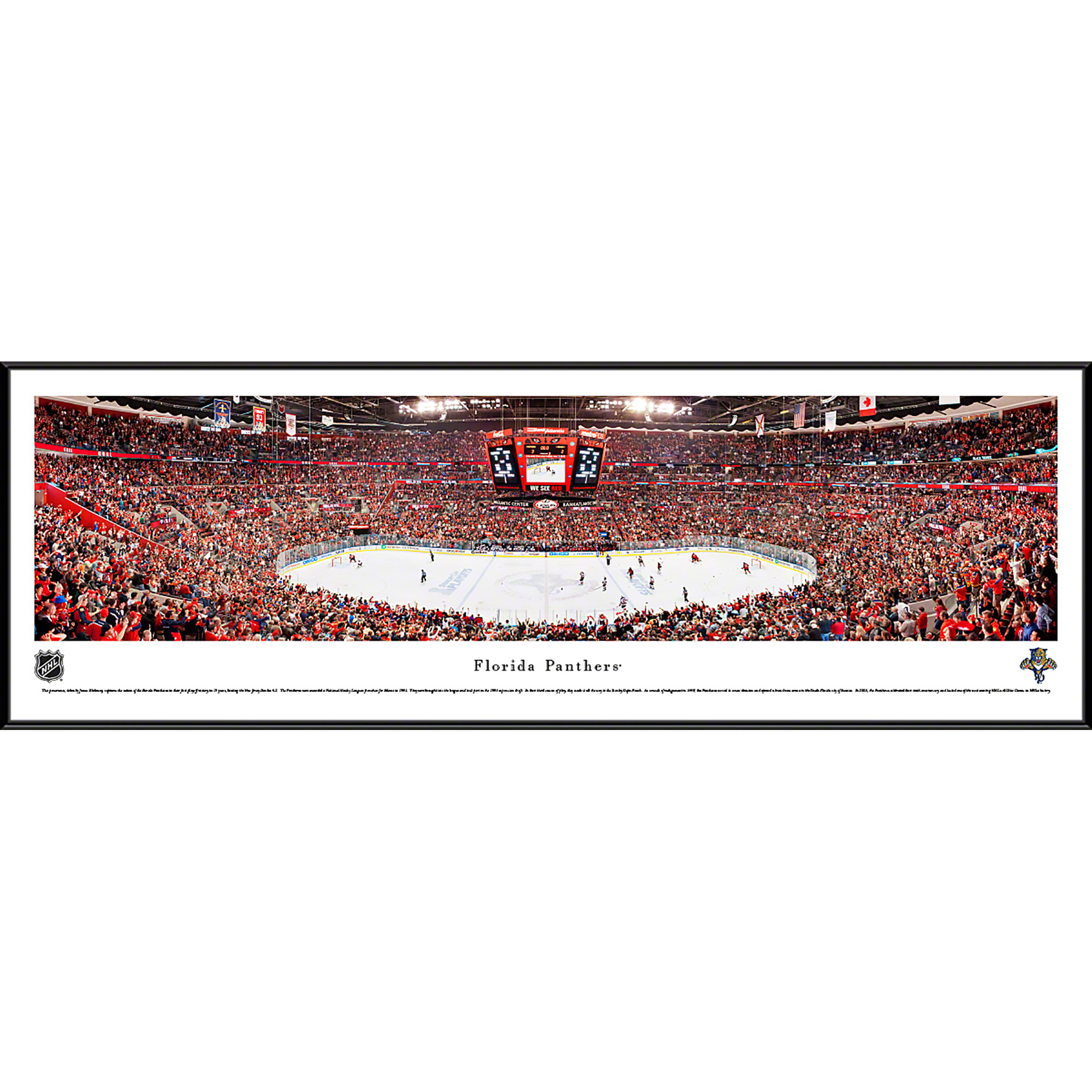 Florida Panthers - Center Ice at BB&T Center - Blakeway Panoramas NHL Print with Standard Frame
