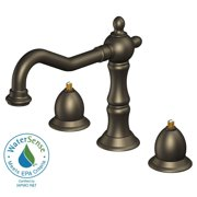 Belle Foret FW0CZ200RBP Transitional 8 in. Widespread 2-Handle High-Arc Bathroom Faucet in Oil Rubbed Bronze