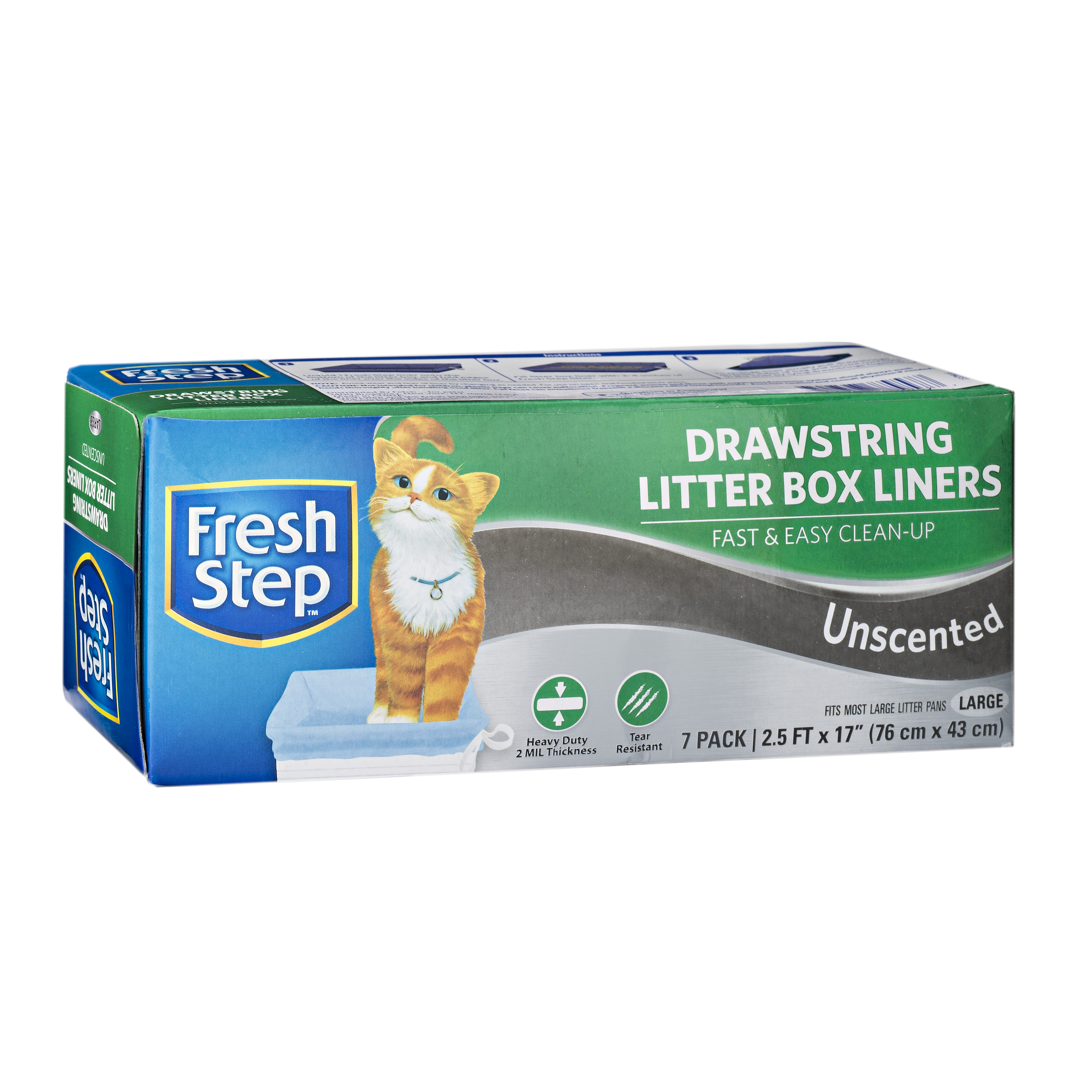 Fresh Step Drawstring Litter Box Liners, Large