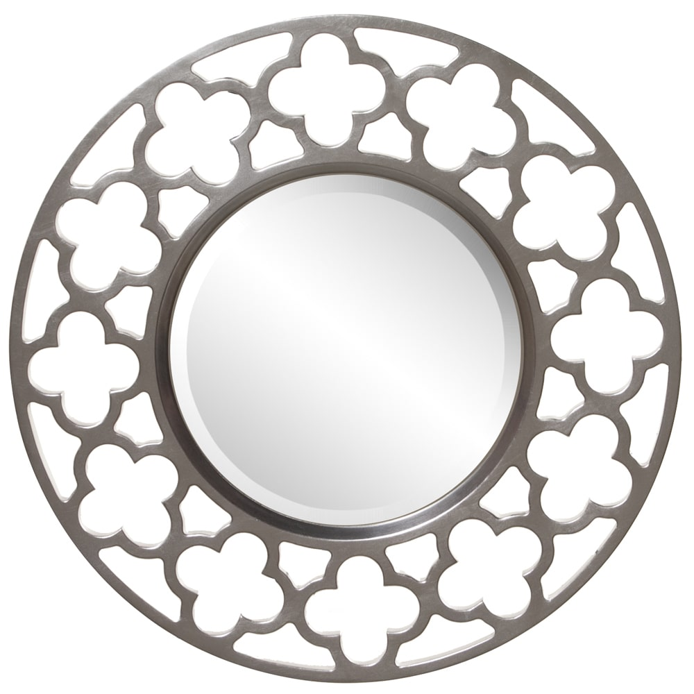 Allan Andrews Irish Brushed Nickel Round Mirror by Overstock