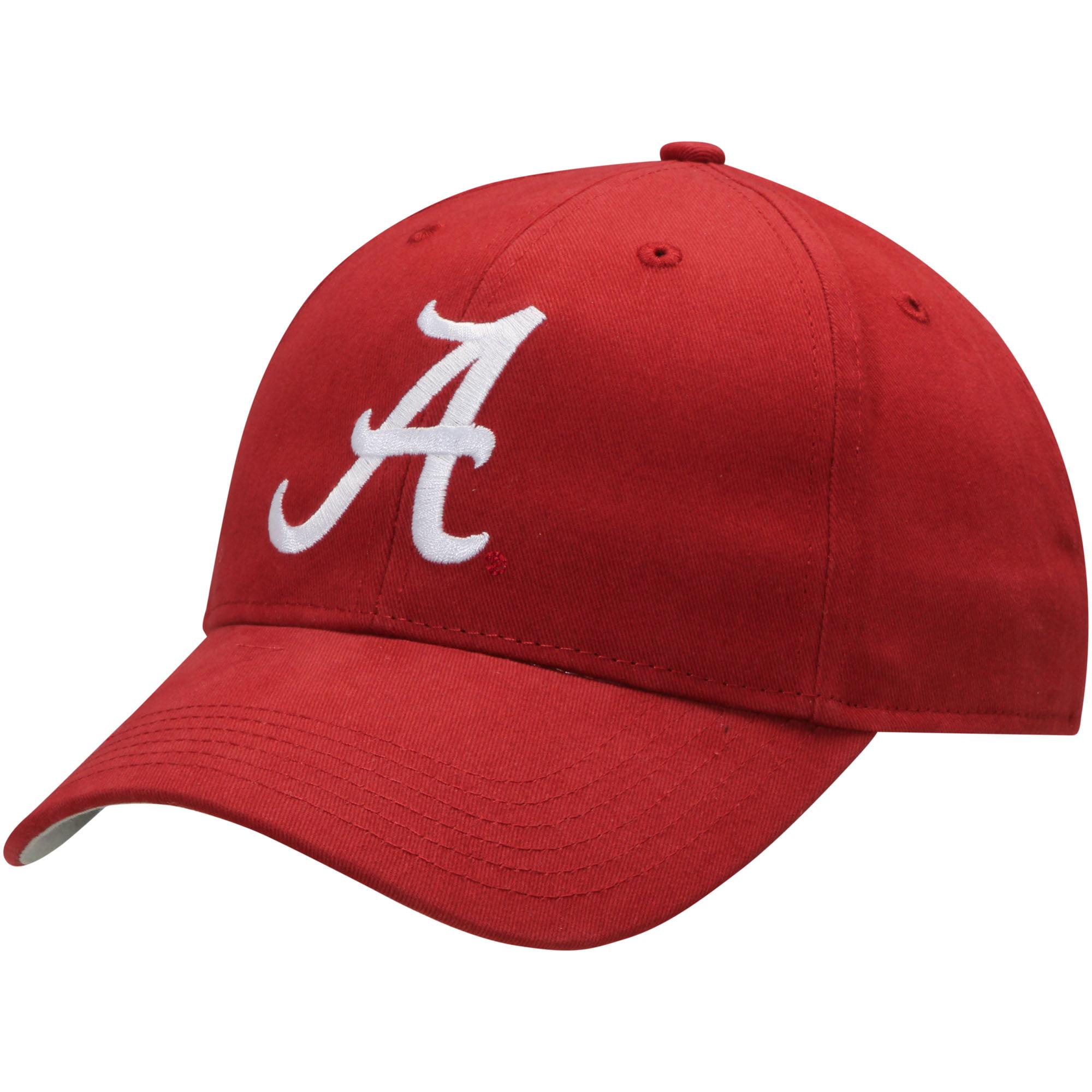 Men's Crimson Alabama Crimson Tide Team Logo Basic Adjustable Hat - OSFA