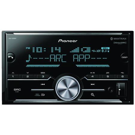 Pioneer MVH-S600BS Double-DIN In-Dash Car Stereo Digital Media Receiver with Bluetooth, SiriusXM Ready & 3 Pairs Of High-Volt RCA Preamp Outputs