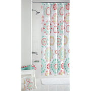 Mainstays Groovy Medallion Fabric Shower Curtain, 1 Each