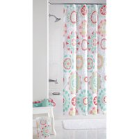 "Mainstays Groovy Medallion Fabric Shower Curtain, 70"" x 72"""