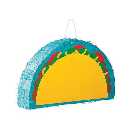Fun Express - Taco Pinata for Cinco de Mayo - Party Decor - General Decor - Pinatas - Cinco de Mayo - 1 - Taco Pinata