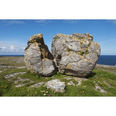 Split Rock near Fanore Burren County Clare Ireland Stretched Canvas - Carl Bruemmer  Design Pics (38 x (Best Split Pic App)