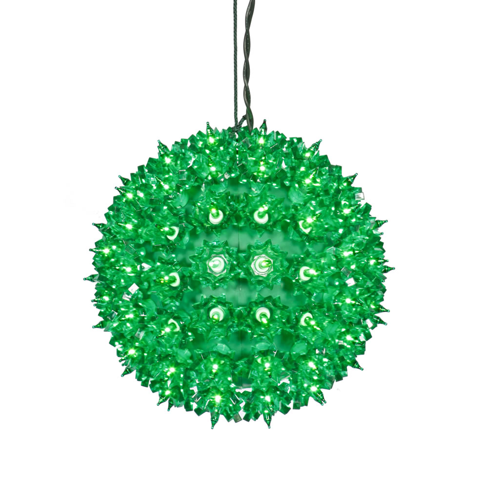 "100Lt x 7.5"" Green Twinkle Star Sphere"