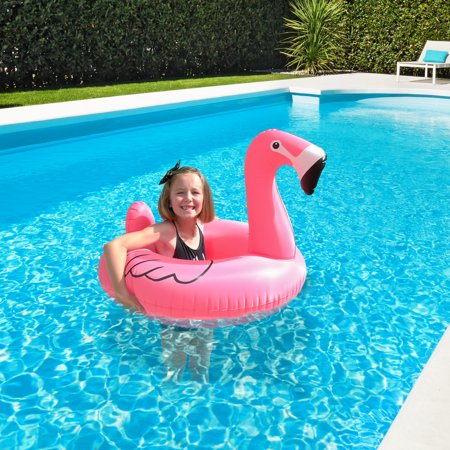 GoFloats Flamingo Jr Pool Float Party Tube, Stylish Floating for - Party Tubes