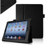 Folio Leather Case Cover for iPad 4 4th Gen With Retina Display, iPad 3 iPad 2