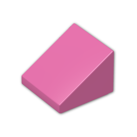 (Brick Building Sets Original LEGO® Parts: Slope 30º 1 x 1 x 2/3 #54200 (Dark Pink))