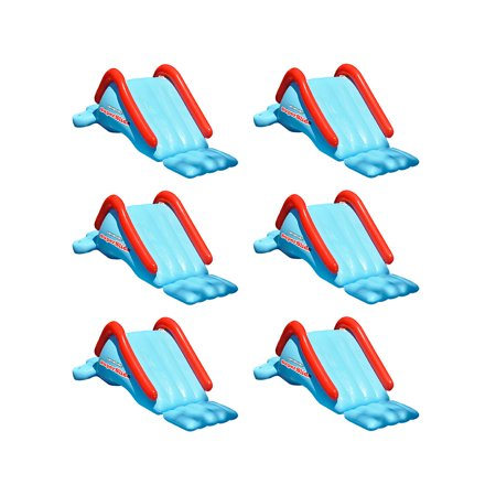 Swimline Super Water Slide Inflatable Swimming Pool Toy Kids Summer Fun (6 Pack) - Inflatable Water Toys