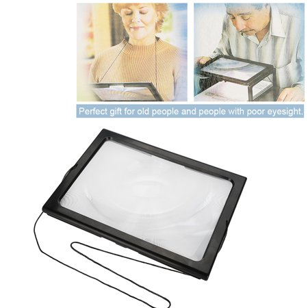 Foldable Ultrathin A4 Full Page Magnifying Glass with 3X Magnifier 4 LED Lights for Reading, Reading Magnifier with Lights, Reading Magnifier 3X 2.5 X Lighted Magnifier