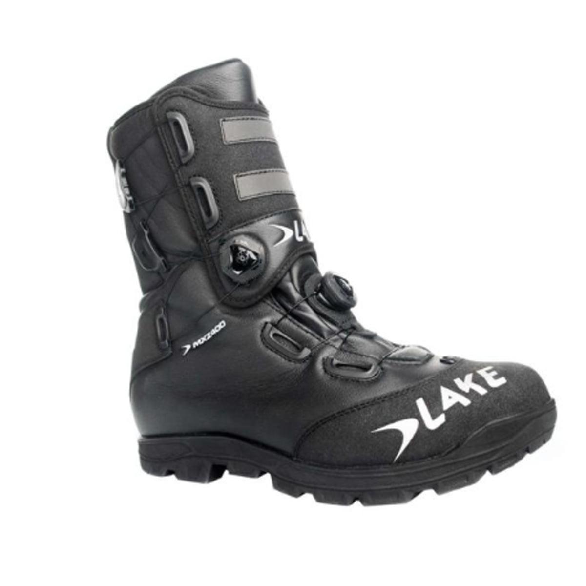 Lake Cycling 2017 Men' MXZ400 Winter Extreme Mountain Cycling Shoes - Black