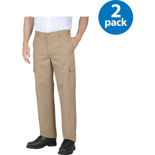 Genuine Dickies Big Mens Flat Front Cargo Pant, 2 Pack