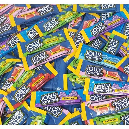 Jolly Rancher Original Stix, Assorted Fruit Flavor Hard Candy, Watermelon, Cherry, Blue Raspberry, Green Apple, Grape Flavored Candies, Bulk 2 Pounds (Jolly Rancher Stix)