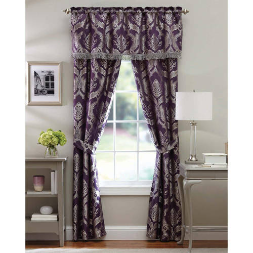 Better Homes and Gardens Brocade Jacquard 5-Piece Curtain Panel Set by 0