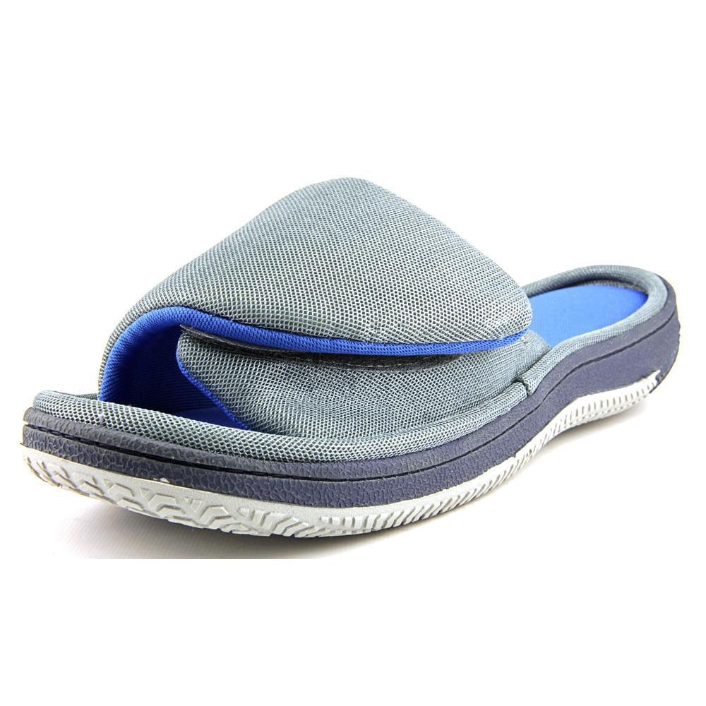 Isotoner Two Tone Slide   Open Toe Synthetic  Slides Sandal