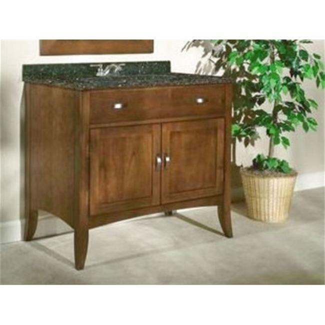 Kaco International 385-3600 Metro 36 inch Vanity with a Brown Cherry Krylon Finish  Vanity Only