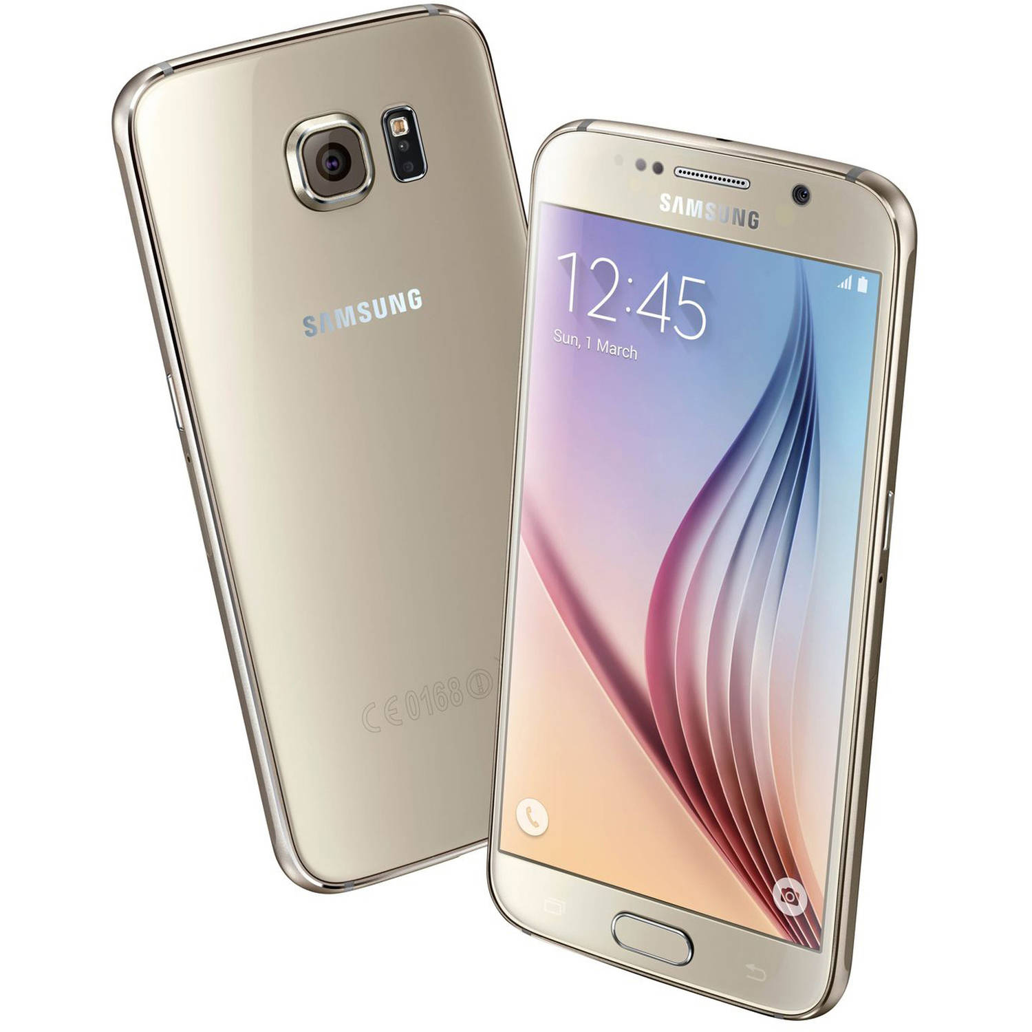 Refurbished Samsung Galaxy S6 SM-G920V Android Smartphone (Verizon Wireless and GSM Unlocked)