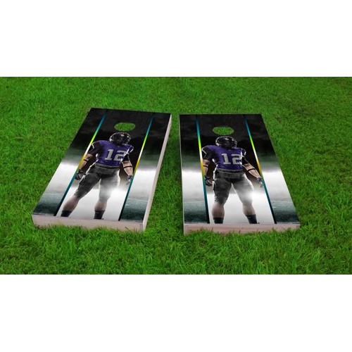 Custom Cornhole Boards Football Player Cornhole Game (Set of 2) by Custom Cornhole Boards