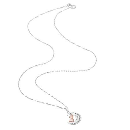 Chic Jewels Sterling Silver Round Pendants Necklaces Tag Love Expression in different Models For Women ()