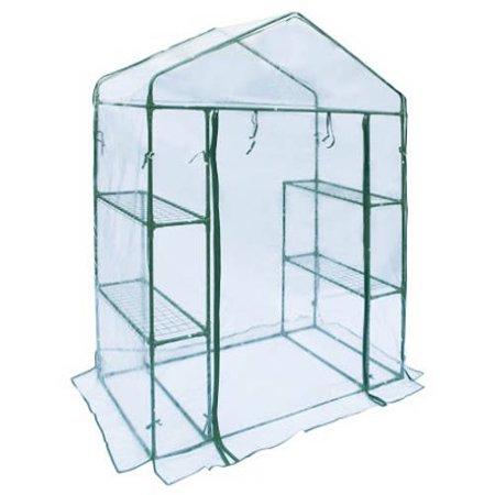 ALEKO Transparent Walk-In 4-Shelves Garden Plant Outdoor Greenhouse Shed