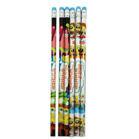 Spongebob Squarepants Two-Design Personalized Pencil Pack (6 Pencils)