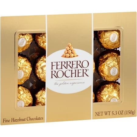 Ferrero Rocher® Fine Hazelnut Chocolates 5.3 oz. Pack - Walmart.com
