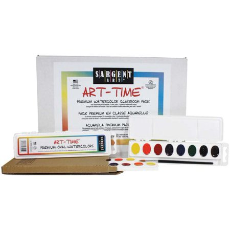 Sargent Art 24 Count Art-Time Premium Oval Watercolor (Art And Craft Ideas From Waste Material)