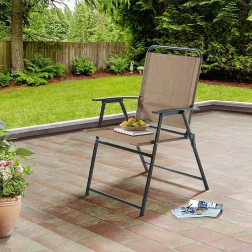 Attirant Mainstays Pleasant Grove Sling Folding Chair, Tan