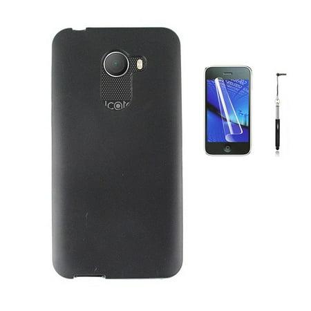 Phone Case For Alcatel Revvl (T-Mobile) / Alcatel A30 Fierce (metroPCS), Gel Flex cover Case + Screen Protector + Stylus Pen (Frosted -