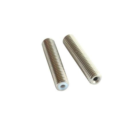 2pcs MK8 M6 * 40mm Stainless Steel Nozzle Extruder Throat Teflon Tubes Pipes for 1.75mm Filament 3D Printer Parts - image 4 de 6