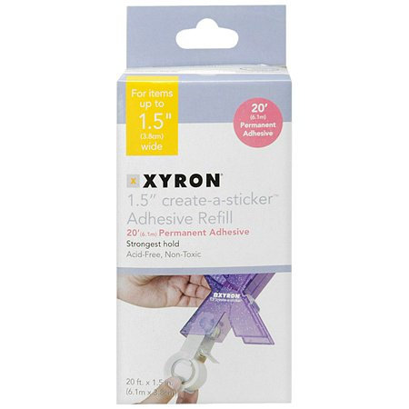 "Xyron Create-a-Sticker 1.5"" Adhesive Refill Cartridge 1.0 ea.(pack of 4)"