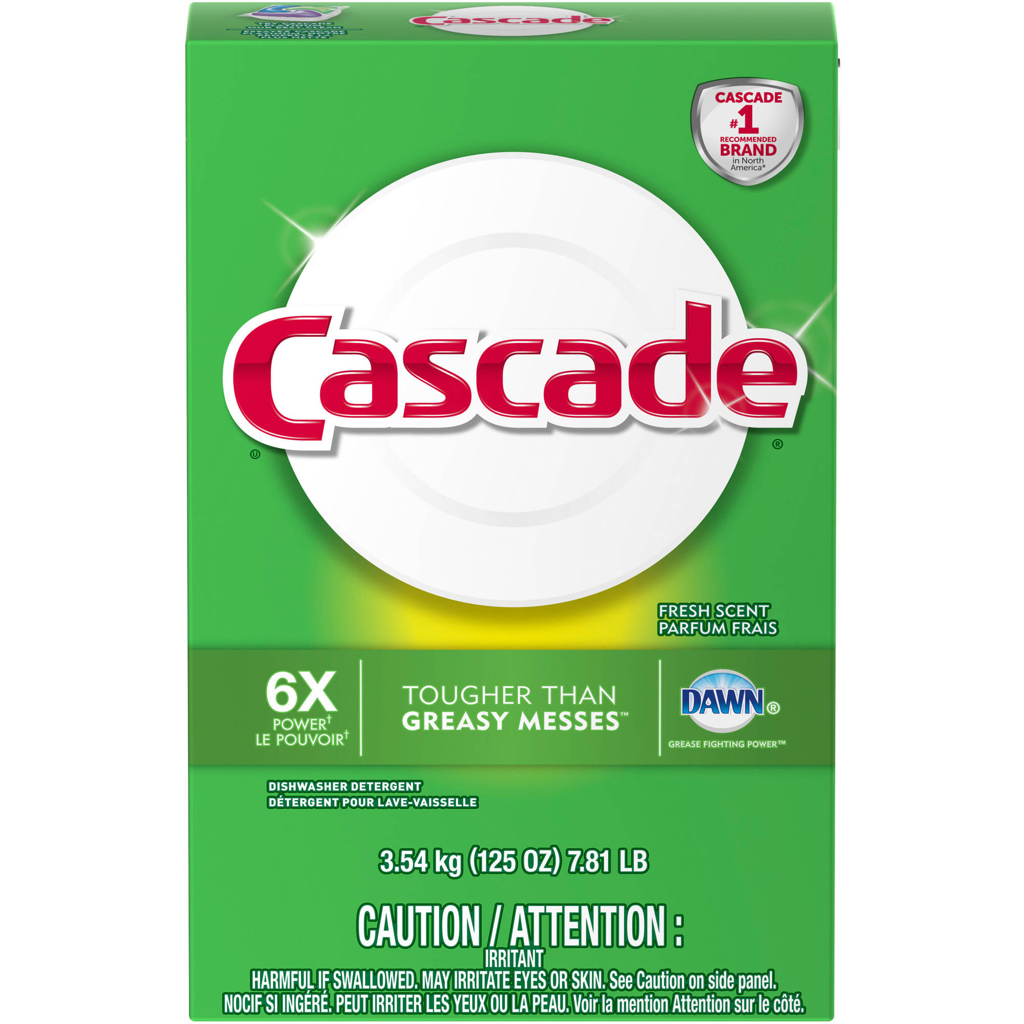 Cascade Dawn Fresh Scent Powder Dishwasher Detergent, 125 oz