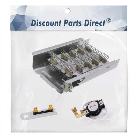 279838 & 3977767 & 3392519 Dryer Heating Element Kit Thermostat Thermal Fuse for Whirlpool Kenmore Dryer, Replaces 3403585, 8565582, PS3343130 AP3094254 (Kit Timer For Dryer Kenmore)