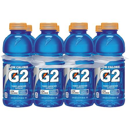 G2 Lower Sugar Gatorade Thirst Quencher Sports Drink, Blueberry  Pomegranate, 20 Fl Oz,