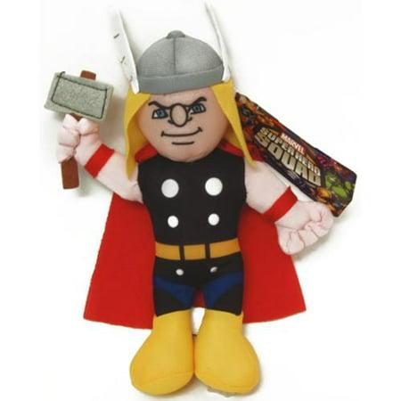 "Marvel Super Hero Plush 9"" Thor - Walmart.com"