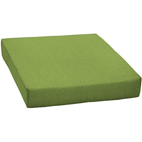 Spectacular Mainstays Solid Outdoor Deep Seat Cushion Solid Green