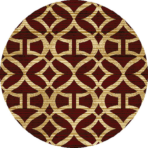 Home Dynamix Royalty Collection Round Area Rug, Red, 6u0027